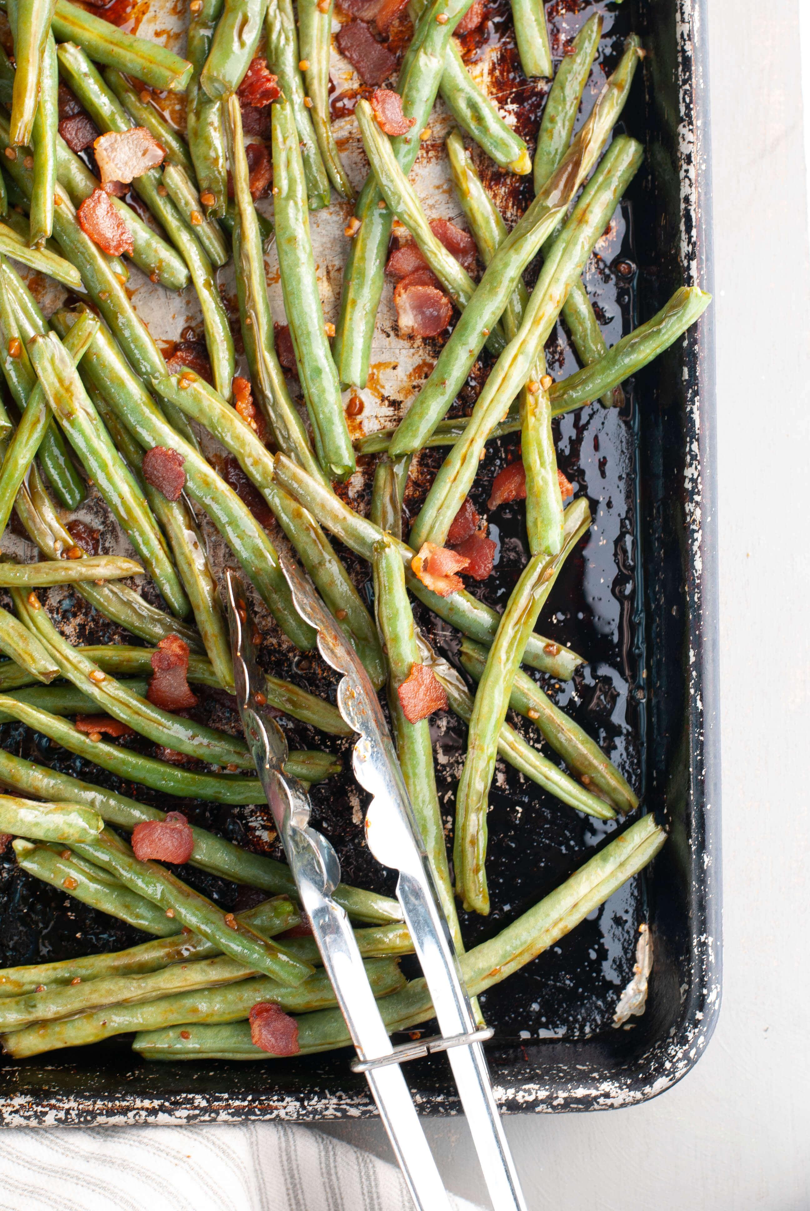 Oven Roasted Garlic Bacon Brown Sugar Green Beans Allergy